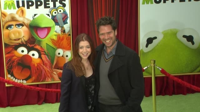 Alyson Hannigan Alexis Denisof at the The World Premiere of Walt Disney's 'The Muppets' at Hollywood CA