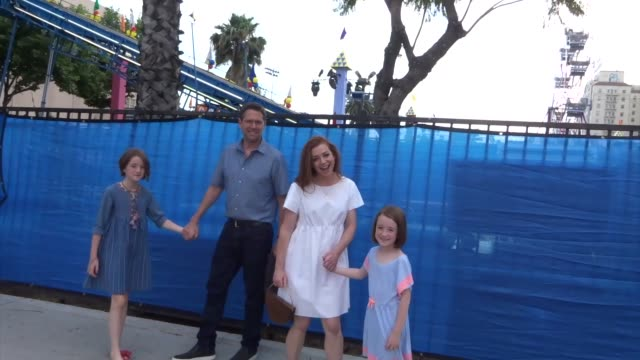 Alyson Hannigan Alexis Denisof outside the Toy Story 4 premiere at El Capitan Theatre in Hollywood in Celebrity Sightings in Los Angeles