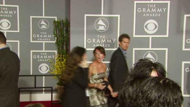 Alyson Hannigan at the 2007 Grammy Awards Arrival Interviews at Staples Center in Los Angeles California on February 11 2007