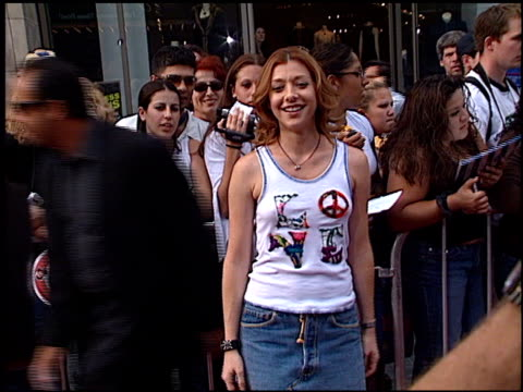 Alyson Hannigan at the American Idol Finale at the Kodak Theatre in Hollywood California on September 4 2002