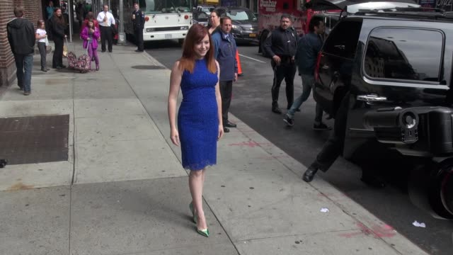 Alyson Hannigan at the 'Late Show with David Letterman' studio in New York NY on 5/8/13