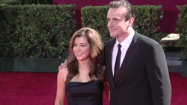 Alyson Hannigan Jason Segel at the 61st Annual Primetime Emmy Awards Arrivals Part 3 at Los Angeles CA