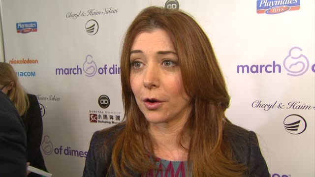 Alyson Hannigan on why she wanted to support March of Dimes what advice she has for expecting or new mothers and the greatest joy she gets from being...