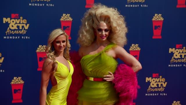Alyssa Edwards and Molly McKinnon at the 2019 MTV Movie TV Awards at Barkar Hangar on June 15 2019 in Santa Monica California