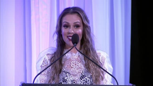 SPEECH Alyssa Milano at 2017 World of Children Hero Awards in Los Angeles CA