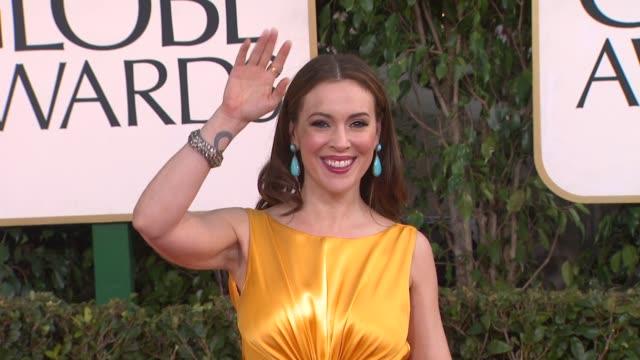 Alyssa Milano at 70th Annual Golden Globe Awards Arrivals on 1/13/13 in Los Angeles CA
