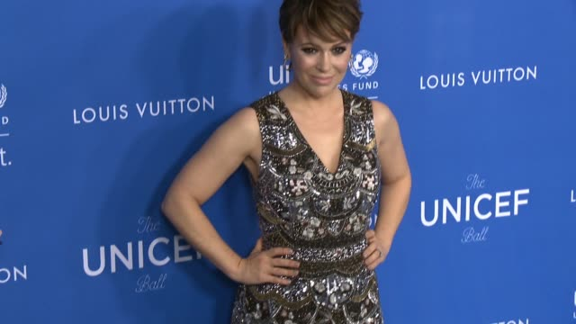 Alyssa Milano at Sixth Biennial UNICEF Ball Honoring David Beckham and CL Max Mikias Presented by Louis Vuitton in Los Angeles CA