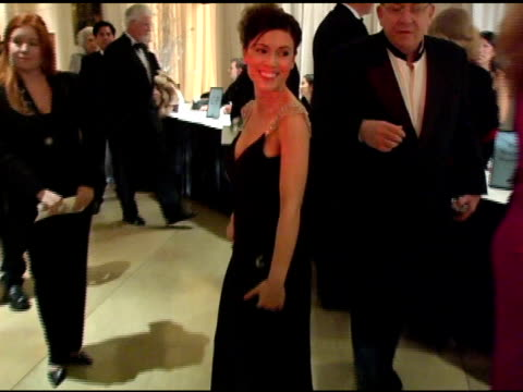 alyssa milano at the 15th annual associates for breast cancer and prostate cancer studies 'winter wonderland' gala at the beverly hilton in beverly... - alyssa milano stock-videos und b-roll-filmmaterial