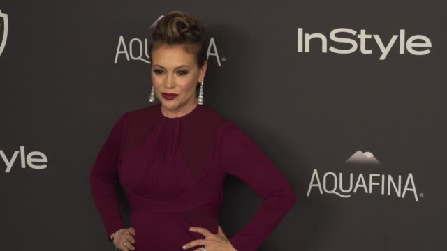Alyssa Milano at the 17th Annual InStyle And Warner Bros Pictures Golden Globe AfterParty at The Beverly Hilton Hotel on January 10 2016 in Beverly...