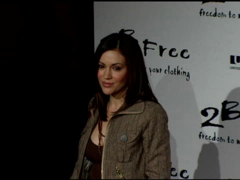 Alyssa Milano at the 2 B Free Spring 2006 Collection at Paramount Studios in Hollywood California on October 16 2005
