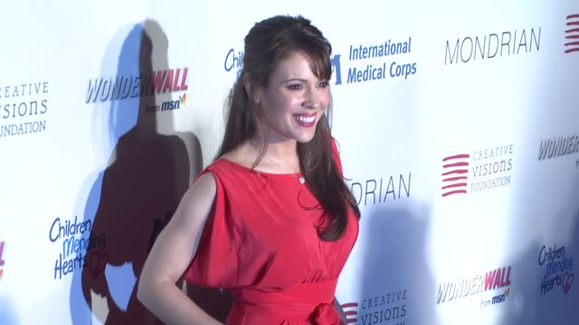 Alyssa Milano at the Children Mending Hearts Benefit at Los Angeles CA