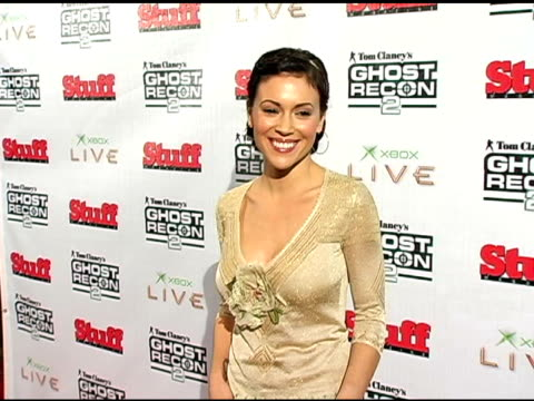 Alyssa Milano at the Event for Tom Clancy's Ghost Recon 2 Hosted By Ubisoft and Stuff Magazine at House of Blues in Hollywood California on December...