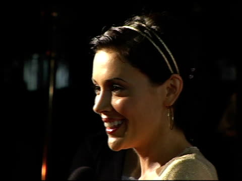 alyssa milano at the event for tom clancy's ghost recon 2 hosted by ubisoft and stuff magazine at house of blues in hollywood california on december... - alyssa milano stock-videos und b-roll-filmmaterial