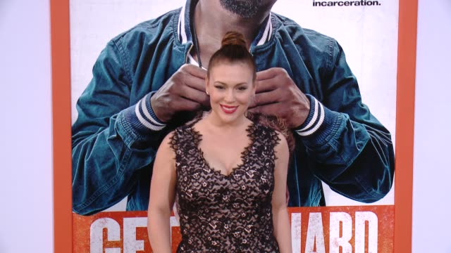 Alyssa Milano at the 'Get Hard' Los Angeles Premiere at TCL Chinese Theatre on March 25 2015 in Hollywood California