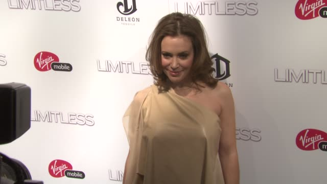 Alyssa Milano at the 'Limitless' World Premiere Arrivals at New York NY
