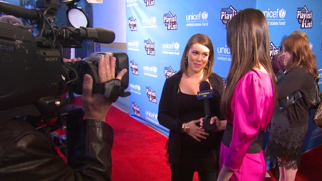 Alyssa Milano at the UNICEF Presents Playlist With The AList at Los Angeles CA