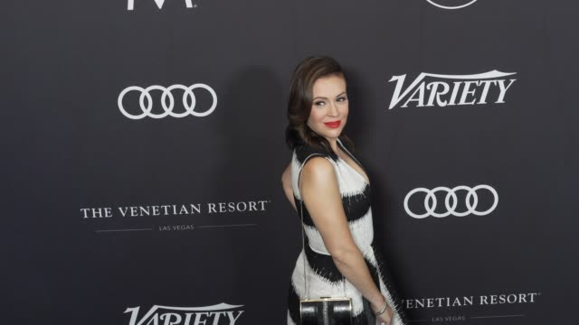 alyssa milano at the variety's power of women los angeles at the beverly wilshire four seasons hotel on october 12 2018 in beverly hills california - alyssa milano stock videos & royalty-free footage