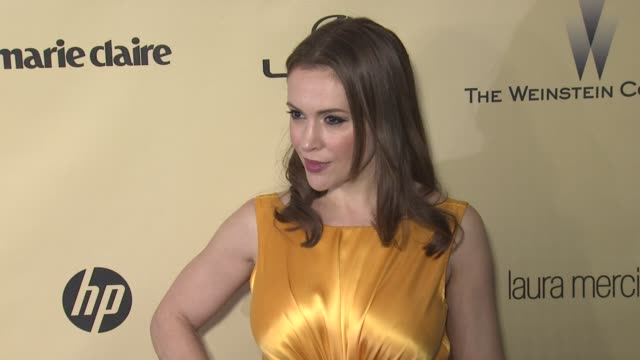 Alyssa Milano at The Weinstein Company's 2013 Golden Globe Awards After Party on 1/13/13 in Beverly Hills CA