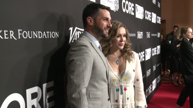 vidéos et rushes de alyssa milano, dave bugliari at the core gala: a gala dinner to benefit core and 10 years of life-saving work across haiti & around the world at... - alyssa milano