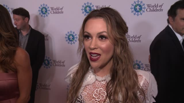 INTERVIEW Alyssa Milano on the event at 2017 World of Children Hero Awards in Los Angeles CA
