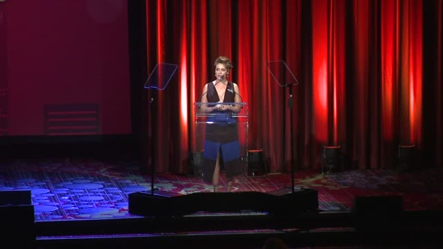 speech alyssa milano speaks at the trevor project's trevorlive new york at marriott marquis hotel on june 13 2016 in new york city - alyssa milano stock videos & royalty-free footage