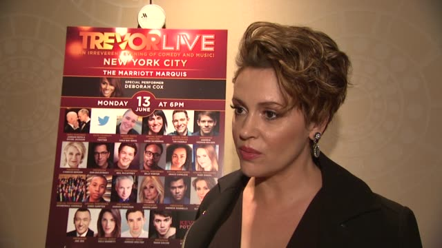 INTERVIEW Alyssa Milano talks about supporting the LGBTQ community at The Trevor Project's TrevorLIVE New York at Marriott Marquis Hotel on June 13...