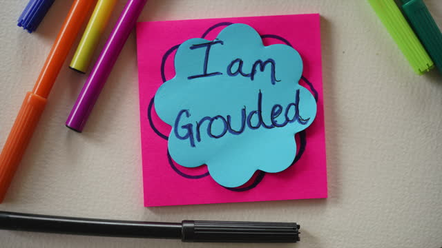 """""""i am loved, i am grounded, i am enough, i am energy, i am vibration"""" affirmation notes - sticky stock videos & royalty-free footage"""