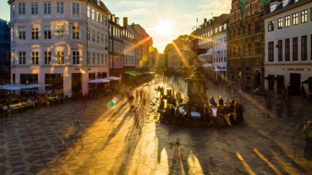 amagertorv, central square in copenhagen - busy stock videos & royalty-free footage