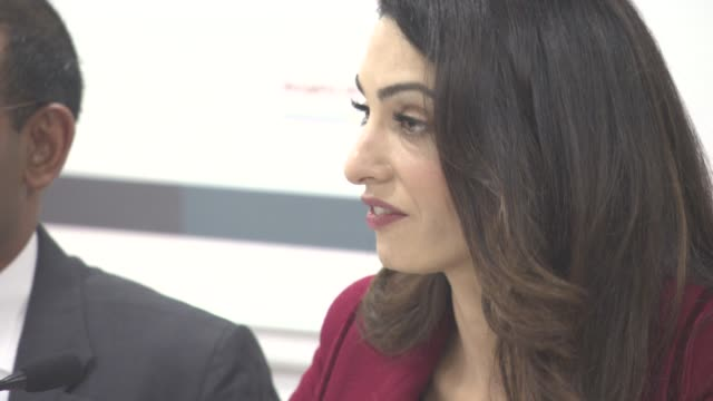 INTERVIEW Amal Clooney on Press thankful to the press UN ruling on Mohamed Nasheed trial at conference with President Nasheed of the Maldives his...