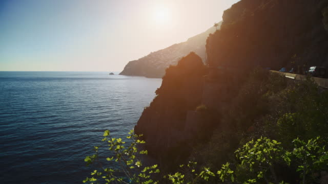 amalfi coast and sorrento peninsula - cultura mediterranea video stock e b–roll
