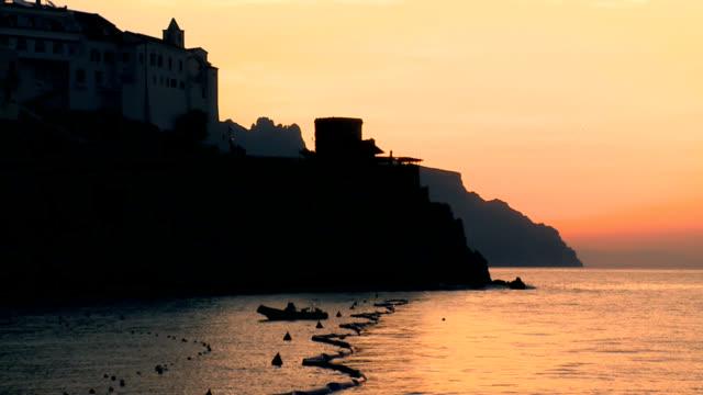 Amalfi cost at sunrise