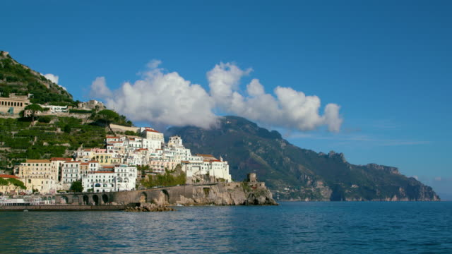 amalfi town & harbour, amalfi, province of salerno, italy - mausoleum stock videos and b-roll footage
