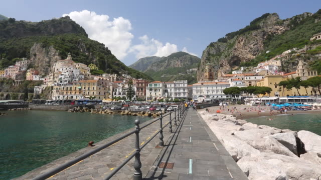 Amalfi, view of the city from the harbour