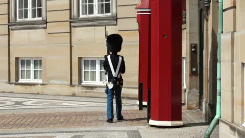 amalienborg palace - copenhagen stock videos & royalty-free footage