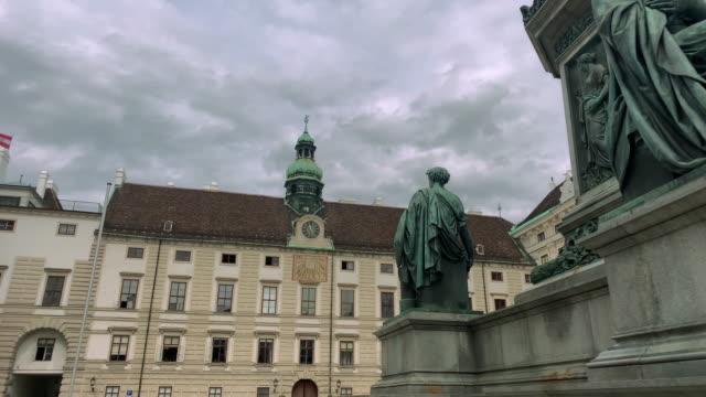 amalienburg hofburg complex - the hofburg complex stock videos & royalty-free footage