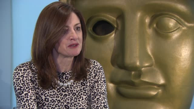 amanda berry on the length of the awards, balance of keeping the awards on time and giving people the time they need at bafta interview at bafta... - length stock videos & royalty-free footage