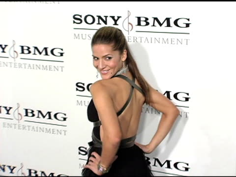 Amanda Byram at the Sony / BMG Grammy Awards Party at the Roosevelt Hotel in Hollywood California on February 13 2005