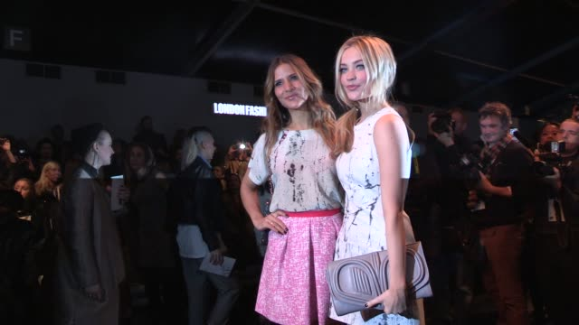Amanda Byram Laura Whitmore LFW Video Sightings on February 15 2013 in London England