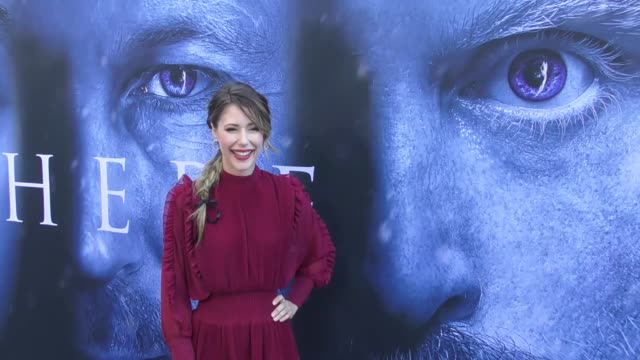 Amanda Crew at the 'Game of Thrones' Season 7 Premiere at Walt Disney Concert Hall on July 12 2017 in Los Angeles California