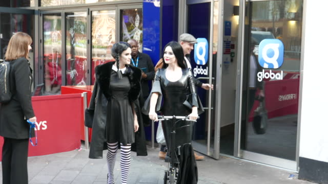 amanda holden and ashley roberts leaving heart radio studios in halloween costumes at celebrity sightings in london on october 31, 2019 in london,... - arts culture and entertainment stock videos & royalty-free footage