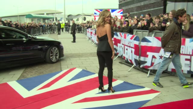amanda holden at britain's got talent cardiff auditions at millennium stadium on january 23 2014 in cardiff wales - britain's got talent stock-videos und b-roll-filmmaterial