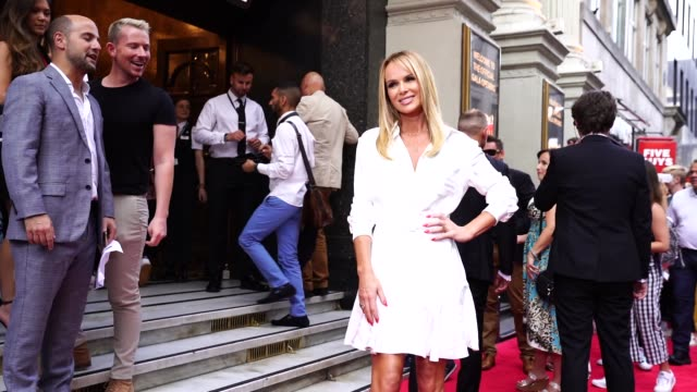 stockvideo's en b-roll-footage met amanda holden at joseph and the amazing technicolor dreamcoat press night at london palladium on july 11 2019 in london england - london palladium