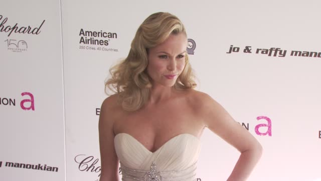 amanda holden at the 18th annual elton john aids foundation oscar party at west hollywood ca. - oscar party stock videos & royalty-free footage