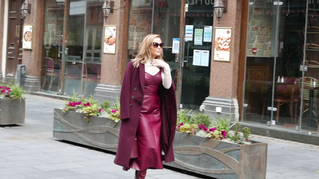 amanda holden seen leaving heart breakfast radio studios at celebrity sightings in london on november 17, 2020 in london, england. - breakfast stock videos & royalty-free footage