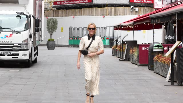 amanda holden seen leaving heart breakfast radio studios on april 26, 2021 in london, england. - sunglasses stock videos & royalty-free footage