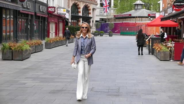 amanda holden seen leaving heart breakfast radio studios on may 12, 2021 in london, england. - breakfast stock videos & royalty-free footage