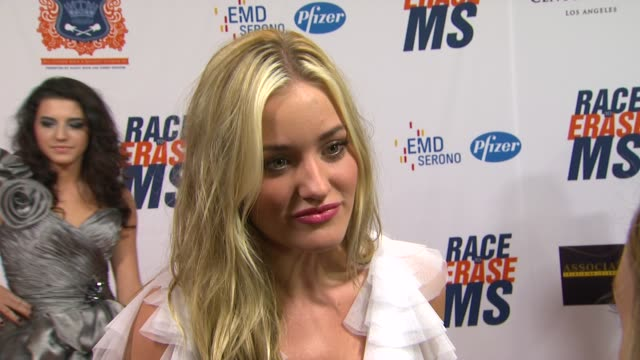 Amanda Michalka on being a part of the night and supporting Race to Erase MS if she watched the royal wedding and what she thought on ABS by Allen...