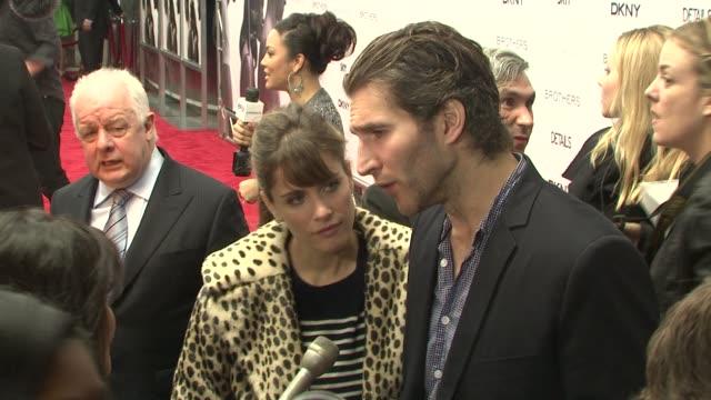 amanda peet and david benioff at the new york premiere of 'brothers' at new york ny - amanda peet stock videos & royalty-free footage