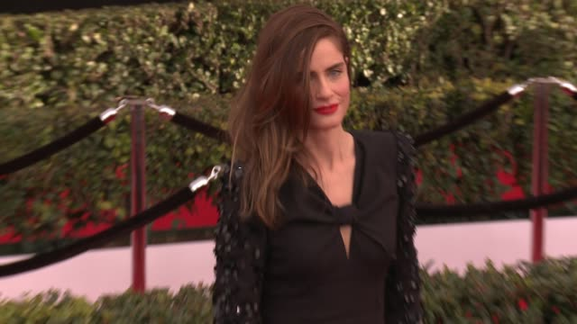 amanda peet at 23rd annual screen actors guild awards arrivals at the shrine expo hall on january 29 2017 in los angeles california - amanda peet stock videos & royalty-free footage