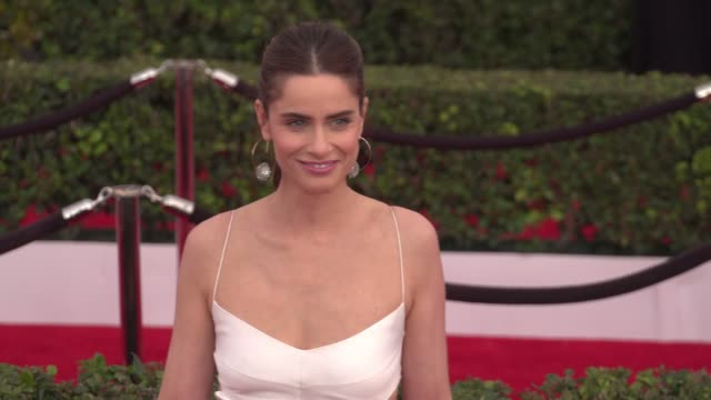 amanda peet at the 22nd annual screen actors guild awards - arrivals at the shrine auditorium on january 30, 2016 in los angeles, california. 4k... - shrine auditorium stock videos & royalty-free footage